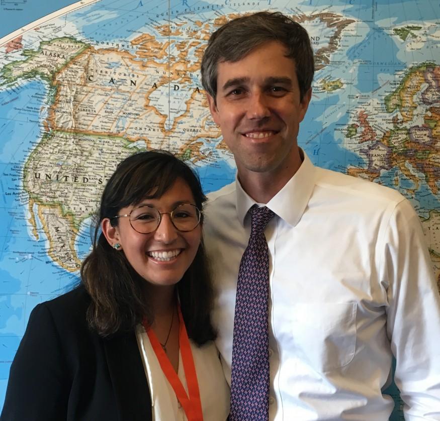 Cassie Davis and U.S. Rep. Beto O'Rourke of (D-Texas) on Lobby Day. Photo courtesy of Cassie Davis.
