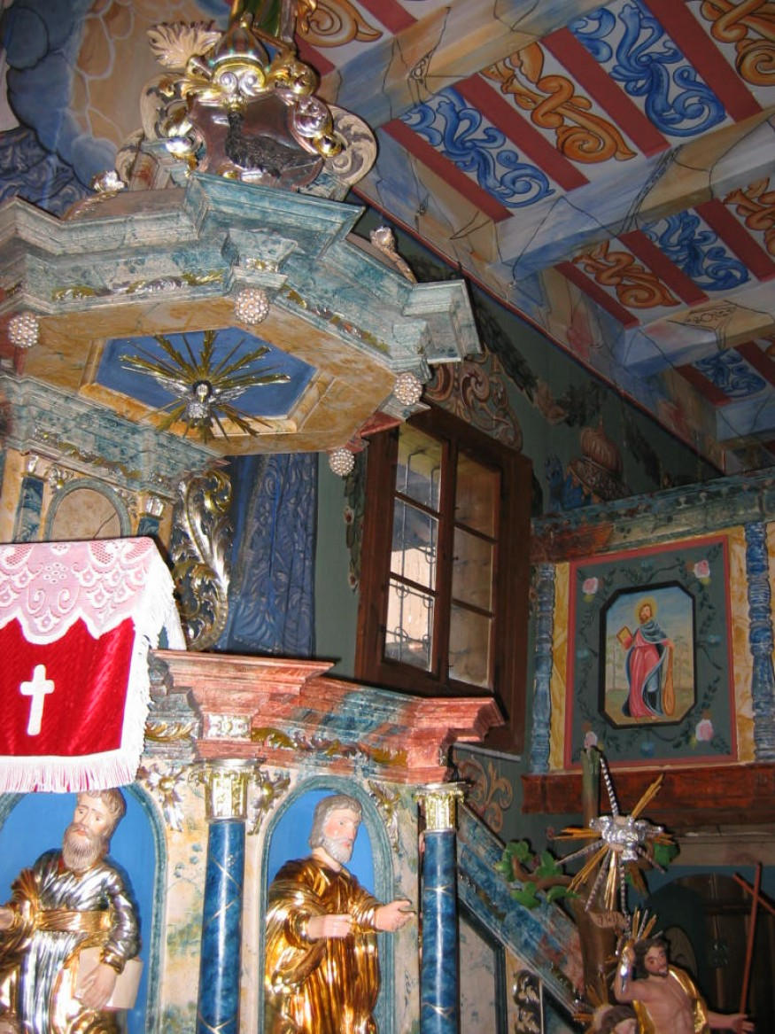 The pulpit in Istebne Lutheran Church in Slovakia. Photo by Stephen H. Padre/Bread for the World