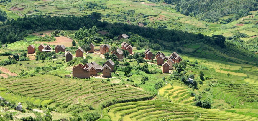 Photo: Village near Ambalandingana, Madagascar. Bernard Gagnon/Wikimedia Commons.