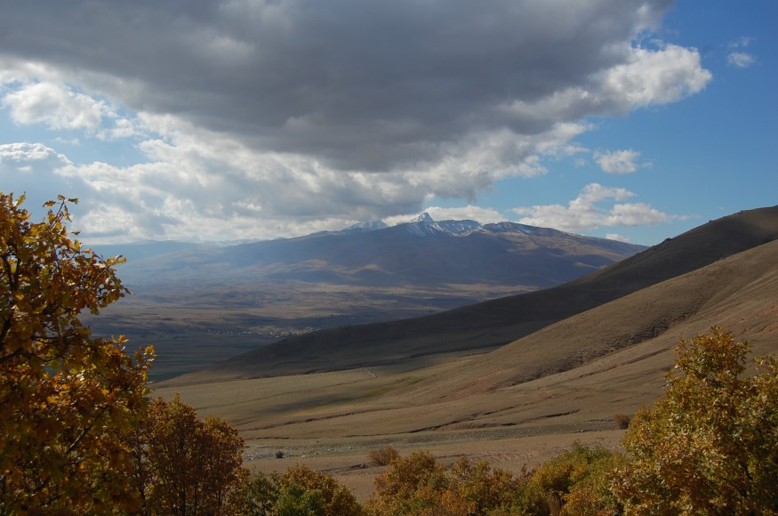 Mount Aragats is an isolated four-peaked volcano massif in Armenia. Wikimedia Commons.