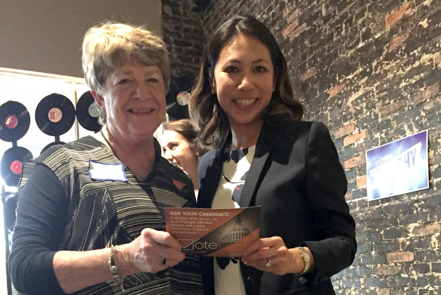 Rebeekah Richey, left, with Democrat Stephanie Murphy. Bread for the World photo.