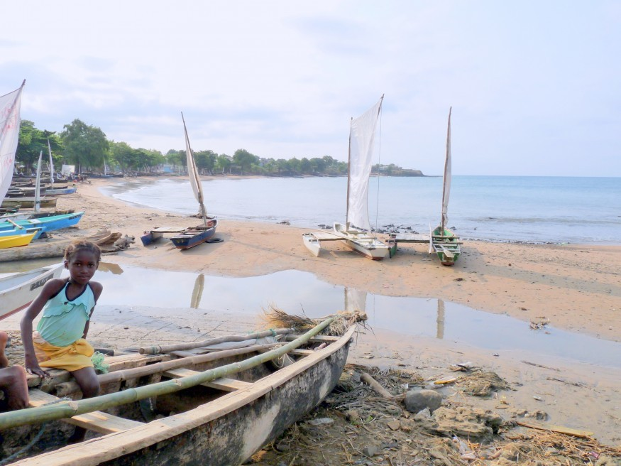 A fisherman beach launch area in Sao Tome and Principe. Wikimedia Commons.
