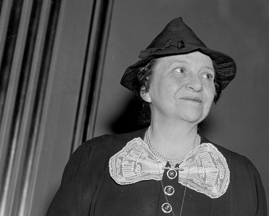 Frances Perkins, 1938 November 23. Library of Congress, Prints & Photographs Division, photograph by Harris & Ewing, [reproduction number, LC-DIG-hec-25438]