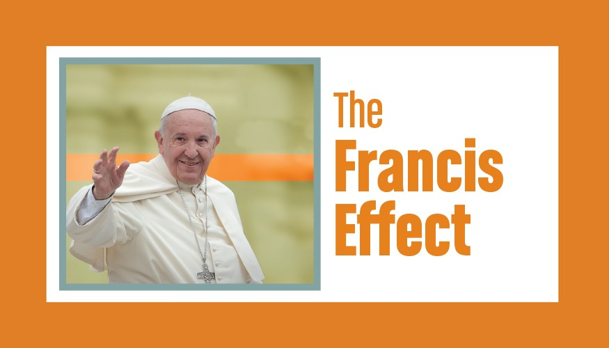 Pope Francis. Graphic by Doug Puller/Bread for the World