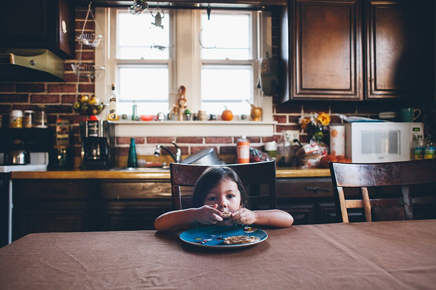 Willow eating breakfast by herself. Joseph Terranova for Bread for the World