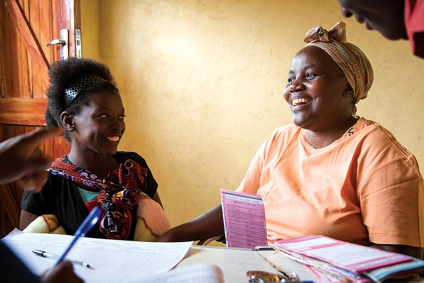 When parents bring their children to a hospital's clinic for HIV checkups, they are asked about how they eat at home. Photo: Joe Molieri / Bread for the World