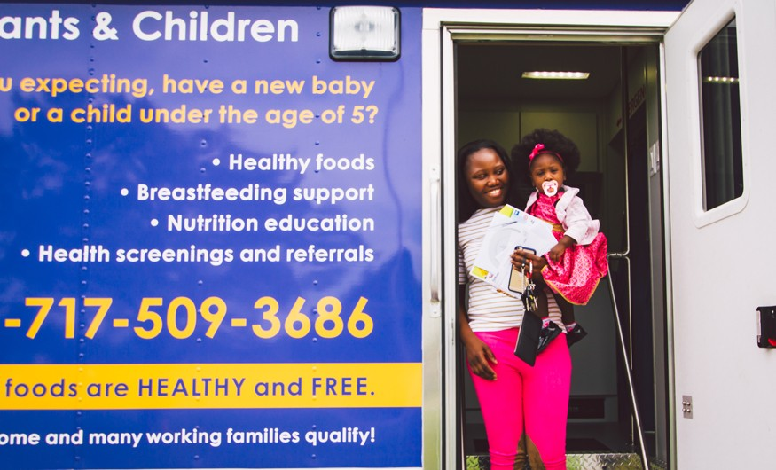 Soliah and her daughter after their visit at the WIC mobile clinic. Joseph Terranova for Bread for the World.