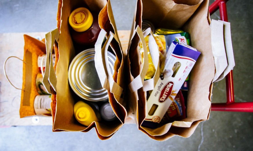 Bags of nonperishable food items. Joseph Terranova for Bread for the World