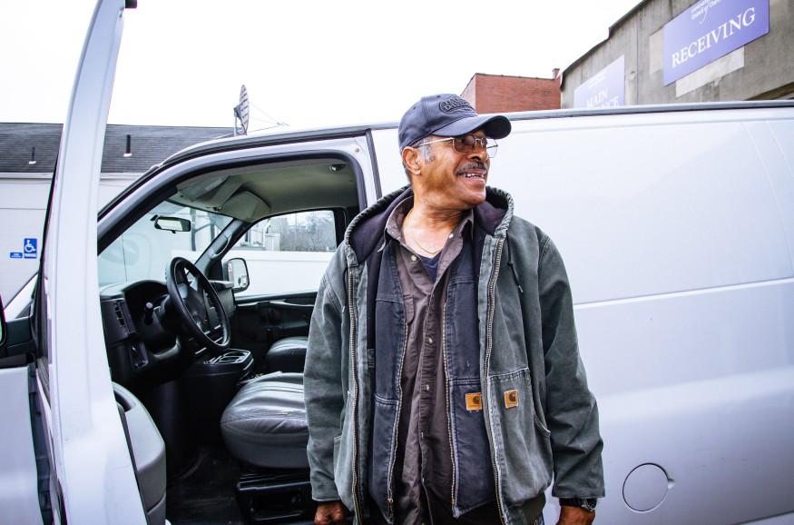 Adrian Clemente stands outside his van. Joseph Terranova for Bread for the World