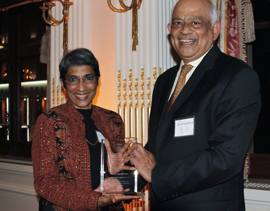 The 14th Annual Gala to End Hunger honored Ashok and Meera Vasudevan, co-founders of Preferred Brands International (Tasty Bite) and the Meera and Ashok Vasudevan Foundation. Photo: Dan DeFilippis for Bread for the World.
