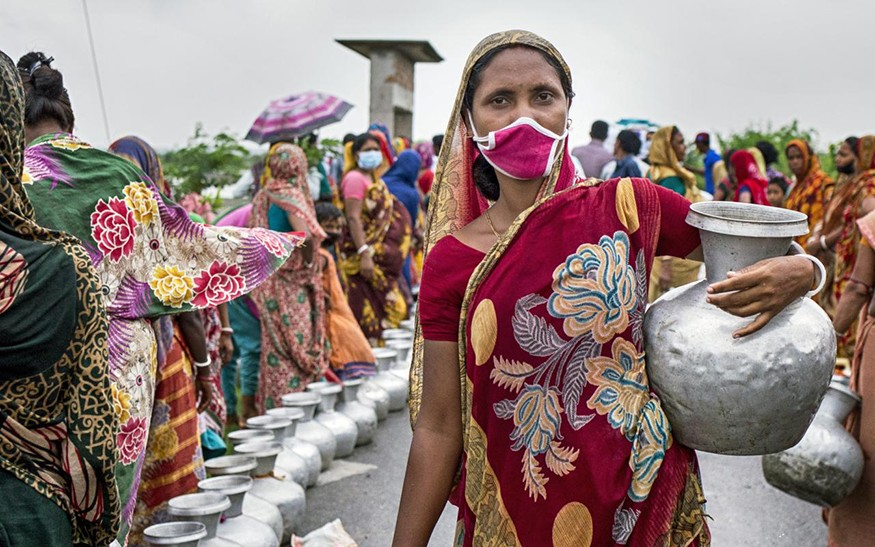 Cyclone Amphan, which struck western coastal areas of Bangladesh on May 13, 2020, was a major disaster compounded by the COVID-19 crisis. Oxfam partner Shushilan delivered food, drinking water, and other essentials to many of the people in greatest need.