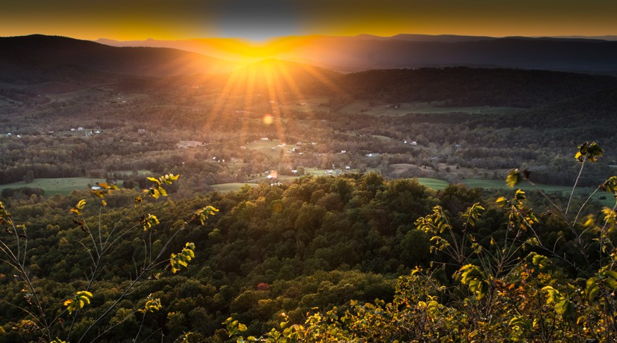 Sunset at Shenandoah National Park in Virginia. Howard Wilson for Bread for the World.