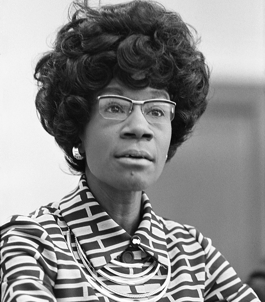 Shirley Chisholm, the first African American woman to be elected to the House of Representatives, was a champion of equal rights for women.