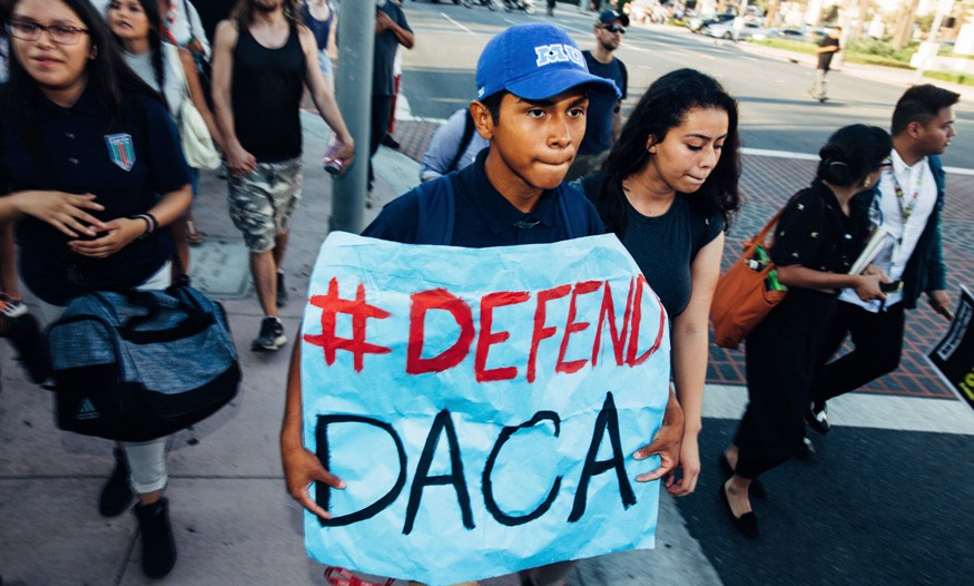 Supporters of DACA in Los Angeles. Molly Adams/Wikimedia Commons.