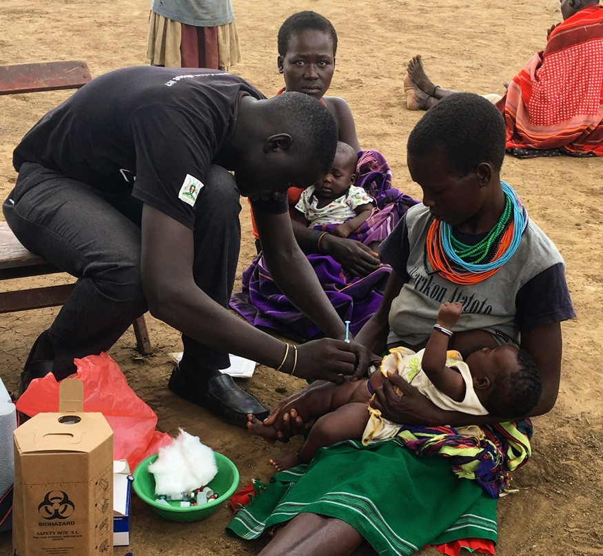 USAID/RWANU supports health centers in Karamoja in order to reach more people with health services such as immunizations, vitamin A supplementation and other basic health services. Ryan Quinn/Bread for the World.
