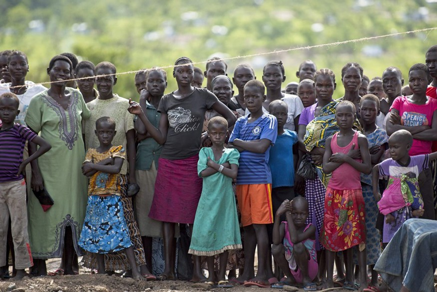 Residents of Imvepi refugee settlement in Arua district, northern Uganda. The UN refugee agency estimates that as of August 2017, there are more than one million South Sudanese refugees in Uganda. UN Photo / Mark Garten